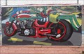 Image for Cartoon Motorcycle Mural - El Trovatore - Kingman, Arizona, USA.