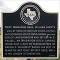 Image for First Irrigation Well in Lamb County