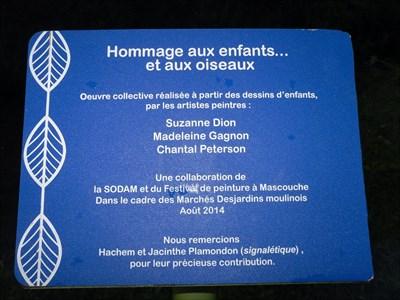 Texte du petit panneau près du banc.  Text of small panel near the bench.