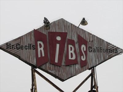 Mr. Cecil's California Ribs Sign, Los Angeles, CA