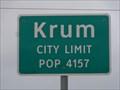 Image for Krum, TX - Population 4157