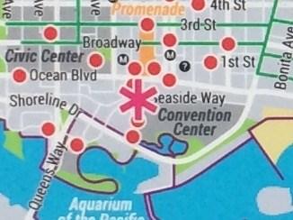 Pine Ave. / E Seside Way Bike Map - Long Beach, CA - \'You ...
