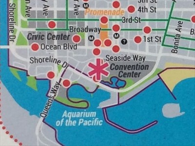 Convention Center Bike Map - Long Beach, CA - \'You Are Here ...