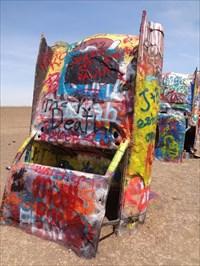 veritas vita visited Cadillac Ranch