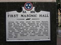Image for First Masonic Hall - 3 A 186