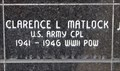 Image for CPL Clarence L. Matlock, US Army -- Nacogdoches Co. TX