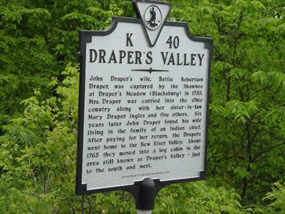 Historical Marker at the top of Draper Mountain