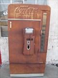 Image for Bent Door Coke Machine - Adrian, TX
