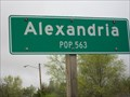 Image for Alexandria Population Sign