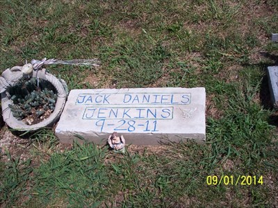 Jack Daniels Jenkins Homemade Tombstone, by MountainWoods