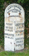 Image for Milestone - Great North Road, Aberford, Yorkshire, UK.
