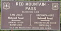 Image for Red Mountain Pass ~ Elevation 11,018 Feet