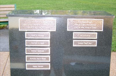 Dedication to the firefighters and police officers who lost their lives.