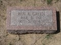 Image for Ben K. Green - Cumby Cemetery - Cumby, TX