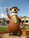 It`s a big statue of Yogi Bear on the roadside!
