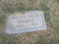 Image for 100 - Granny Vicey Herman - Silver City Cem. - Tuttle, OK