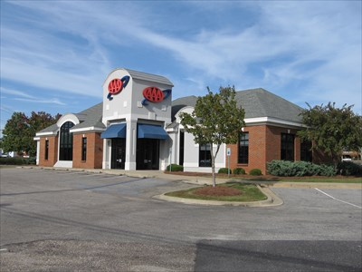 AAA Branch in Montgomery, Alabama seen from the parking lot.