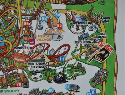 Knott's Berry Farm ~ La Revolución - 'You Are Here' Maps on ... on usc map, knott's map, kings island map, amtrak map, six flags map, buena park map, chino hills state park map, cedar point map, disneyland map, dollywood map, disney map, hersheypark map, universal studios map, dorney park map, great america map, santa monica map, los angeles map, san diego map, university of southern california map, sesame place map,