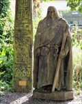 Image for Saint Dogmael - Wooden Sculpture - Pembrokeshire, Wales.
