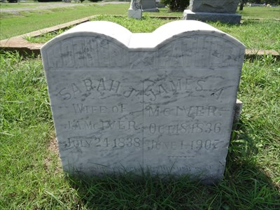 James A. McIver was the first burial here, in 1907, although there were earlier burials before the cemetery was officially established.
