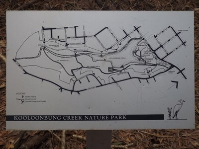 The full map of the Kooloonbung Creek Nature Park boardwalk, and the surrounding streets of Port Macquarie. 1727, Sunday, 12 February, 2017
