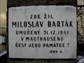 Image for Pametní deska Miloslav Barták - Praha