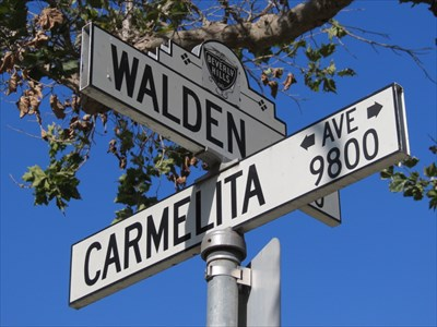 Walden Drive and Carmelita Avenue, Beverly Hills