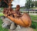 Image for Paul Stark Canoe Sculpture - Lake George, New York