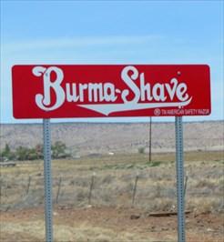 Burma Shave - Route 66 - California.