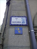 Image for Rua da Alegria Way Marker - Póvoa de Varzim, Portugal