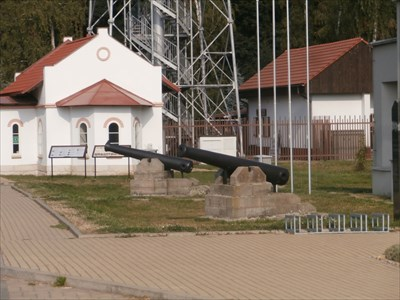Cannons in front of 1866 Austro-Prussian War Museum, Chlum