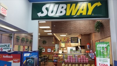 Leaving the cash register at Walmart on my way to my geo mobile I walk past Subway.