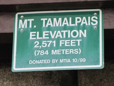 Mt Tamalpais Elevation, East Peak