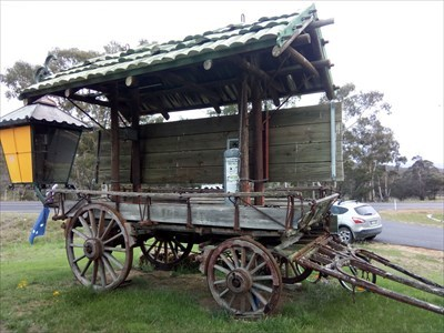 Another view of the 'rear' of the Covered Wagon. 1858, Friday, 28 December, 2018
