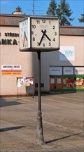 Image for Street Clock in the square in Háj ve Slezsku, Czech Republic