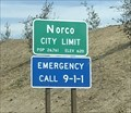 Image for Norco, California ~ Population 26,761