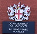 Image for City of London Coat-of-Arms - Billingsgate Market, Aspen Way, London, UK
