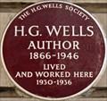 Image for H G Wells - Baker Street, London, UK