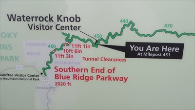 You Are Here - Waterrock Knob - Blue Ridge Mountains