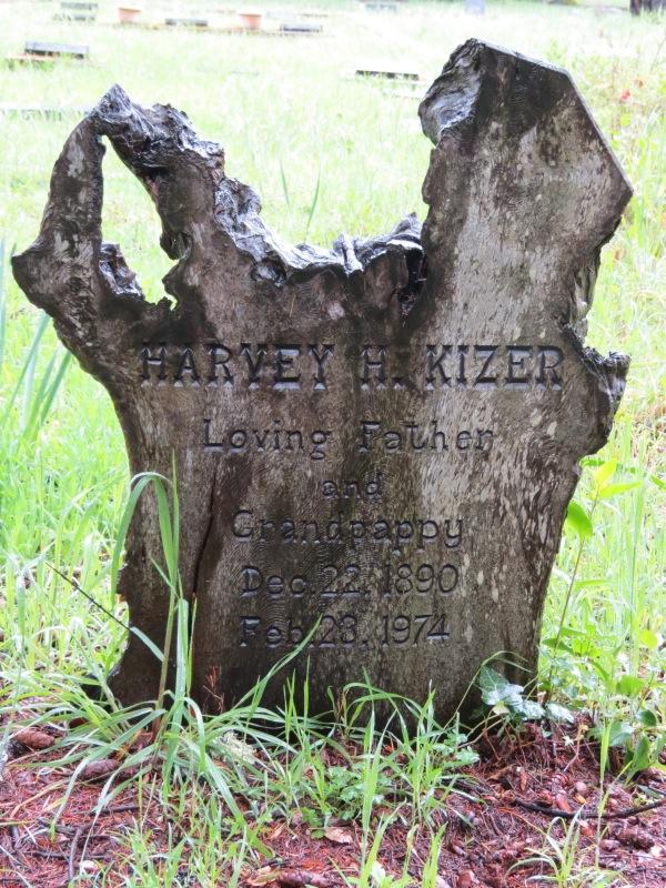 Harvey Grace Kizer Felton Ca Homemade Tombstones On