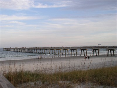 Jacksonville beach fishing pier piers on for Jacksonville fishing pier