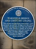 Image for Wakefield Bridge and Chantry Chapel, Wakefield, Yorkshire. UK