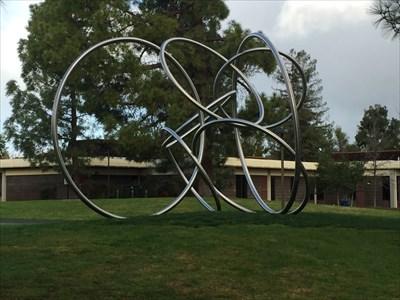 Circles looking SW, Saratoga, California