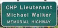 Image for CHP Lt. Michael Walker Memorial Highway