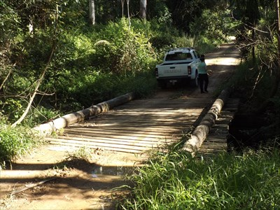 The simple, but effective Plank Bridge, on the Mid North Coast Wander series of geocaches.