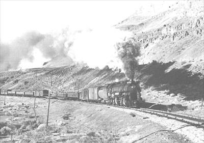 "Union Pacific Engine ""460"", heading West outside Wallula, WA. in 1926. Photo courtesy of Washington State Railroad Historical Society"