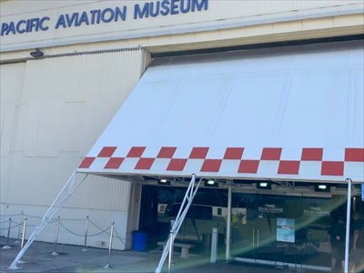 Pacific Aviation Museum Sign, Ford Island, Pearl Harbor, Hawaii