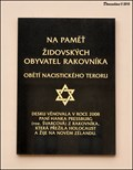 Image for Holocaust memorial tablet at Town Information Centre (Rakovník, Central Bohemia)