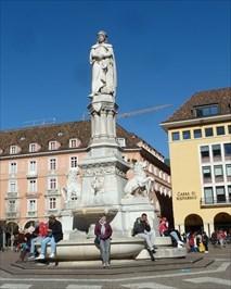 Fountain at the 'Walther von der Vogelweide' Monument - Bozen, Trentino-Alto Adige, Italy