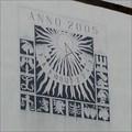 Image for Sundial on garage facade / Slunecní hodiny na fasáde garáže, Plchov, Czechia